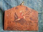 Boy Killing Raging Boar - Folk Japanese Ema painting wooden board