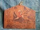 Boy Killing Raging Boar - Folk Japanese Ema painting wooden board