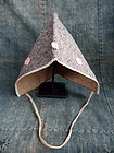 Old Japanese handmade baby felt hood headgear