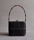 Antique Japanese Teiran bamboo sencha basket Edo period