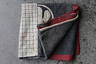 Boro sashiko tsutsugaki patchwork cotton textile