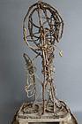 Skeleton of Bodhisattva clay figure