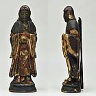 Kisshoten - Wood carving sri-mahadevi statue in zushi shrine