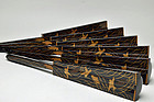 Makie lacquer Byobu-osae screen holders Edo period 19c