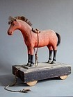 Folk wooden horse toy of Shinshu region