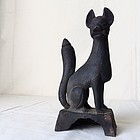 Japanese black clay Inari fox Edo period
