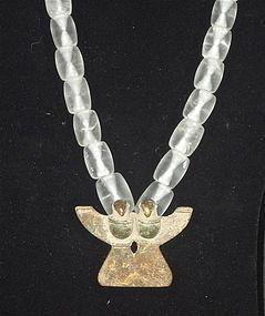 A STUNNING ROCK CRYSTAL NECKLACE FROM THE DIQUIS OF COSTA RICA