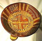 A HIGHLY ORNATE AND IMPRESSIVE MICHOACAN TRIPOD BOWL