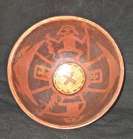 A HIGHLY COMPLEX FOOTED NARINO BOWL FROM ECUADOR