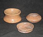 A TRIO OF SMALL MAYA REDWARE JARS