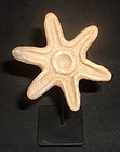 "AN ELEGANTLY SIMPLE JAMA-COAQUE STAR SHAPED ""SELLO"" FROM ECUADOR"