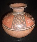A GLOBULAR PRE-COLUMBIAN ICA JAR FROM PERU