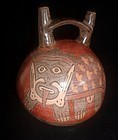 NAZCA DOUBLE SPOUT FELINE JAR
