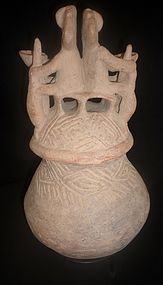 INTACT RIO MAGDALENA BURIAL URN FROM COLOMBIA