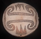 A MIMBRES SCOOP WITH AVIAN AND SNAKE MOTIFS