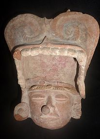 A N EXTRAORDINARY ZAPOTEC HEAD FRAGMENT