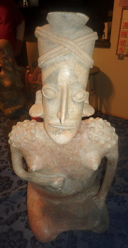 AN ENORMOUS MAJESTIC UNPARALLELED AMECA STYLE SEATED FEMALE