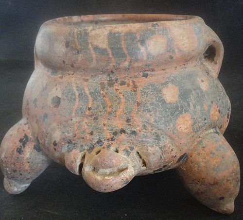 A WONDERFULLY INTRIGUING MAYA POLYCHROMETURTLEVESSEL