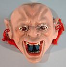 Antique Boxed Set, 12 Japanese Devil Masks w/Glass Eyes