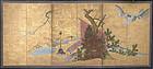 17th c. Japanese Momoyama Gold Screen