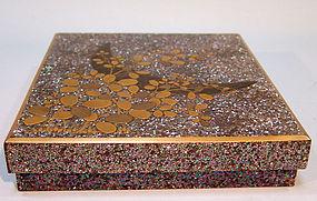 Antique Japanese Lacquer Box, Suzuri Bako