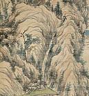 Edo period landscape by Samurai Fujimoto Tesseki