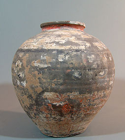 Ancient Chinese Han Dynasty Painted Jar