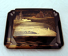 Antique Japanese Lacquer Tray and Box Set, Zohiko