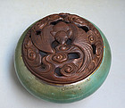 Bat Motiff Antique Japanese Incense Burner