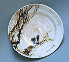 Bowl, Winter Crows by Kiyomizu Rokubei & Kikuchi Hobun