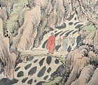 Masterpiece of Nanga by Samurai/Artist Fujimoto Tesseki
