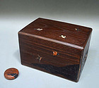 Antique Japanese Lacquer and Inlay Chabako Tea Box