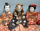 3 Antique Japanese Theater Puppets