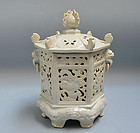 Antique Japanese Hakuji Ceramic Lantern