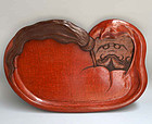Comic Antique Sanuki-Bori Daruma Tray, Shobundo