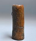 Edo p. Japanese Bizen Kakehana  Vase