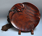 Superb Gourd Shaped Lacquered Wooden Tray