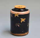 Antique Japanese Ninsei Chaire Tea Caddy