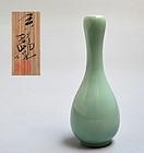 Celadon Vase by Miyagawa (Makuzu) Kozan