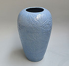 Antique Japanese Vase, a myriad of leaves