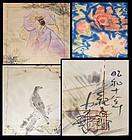 Fukusa set, Hand Painted by Nakagawa Kigen, 1943