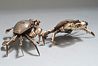 Fine Japanese Jizai Articulated Crabs