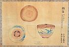 Japanese Ninsei Chawan Museum Design Sketch 1880