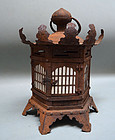 Edo period Japanese Hanging Iron Temple Lantern