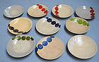 Set of 10 Dango-zara Dishes, Miyako Odoroi Geisha Dance