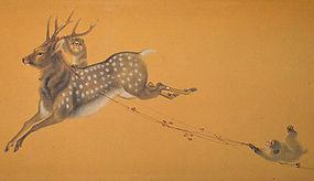 Monkeys and Deer by Yoshimura Horyu