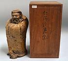 Ninnami Dohachi Edo p. Ninsei Pottery Ceramic Daruma Figure