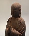 Antique Mingei Japanese Jizo Bosatsu Buddhist Carving