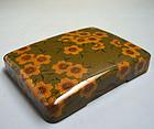 1950s Japanese Green Lacquer Suzuri Bako Writing Box