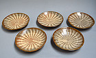 Antique Japanese Koishiwara Mingei Dish Set. 5 pcs